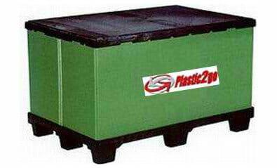 Lightweight folding bulk container