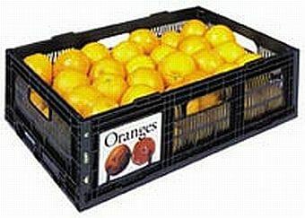 24L folding vented plastic crate