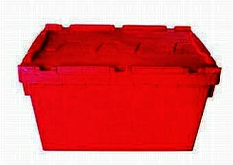 50L plastic security crate, ideal for moving office or home
