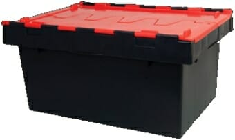 68L plastic security crate, ideal for office document storage, archival and transport