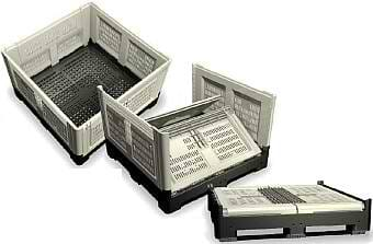 Euro (1200x800) folding vented plastic bulk containers