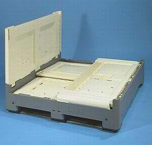 Euro (1200x800) folding vented plastic bulk container
