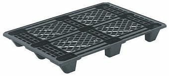 Extremely light weight nestable Euro plastic pallet