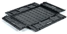 Folding Vented Plastic Crate C2GP6414V