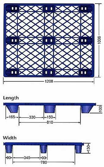 Heavy Duty Used Plastic Pallet P2G110U