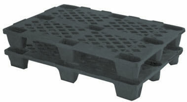 Medium duty nestable Euro plastic pallet