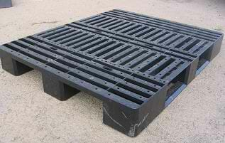 Medium duty stackable ISO export plastic pallet (various)