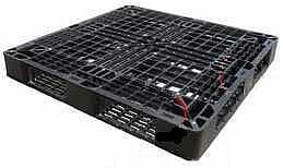 Medium duty used 1100x1100 export plastic pallet available from Perth WA