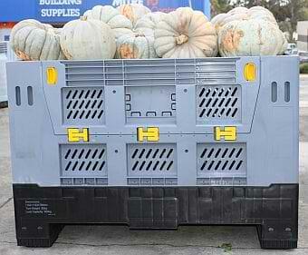 Vented, folding Australian Standard plastic bulk container