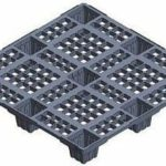 Very light weight nestable Asian export plastic pallet