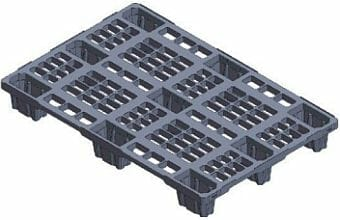 Very light weight nestable Euro plastic pallet