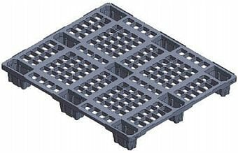 Very light weight nestable ISO plastic pallet