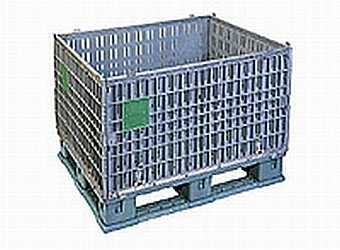 Plastic bulk container that can be disassembled