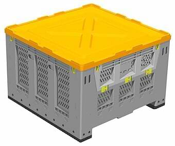 Lid for folding Australian Standard plastic bulk container