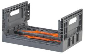 Folding Vented Plastic Crate C2GP3719V