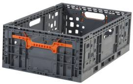 Folding Vented Plastic Crate C2GP5519V
