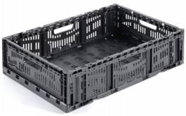Folding Vented Plastic Crate C2GP6416V
