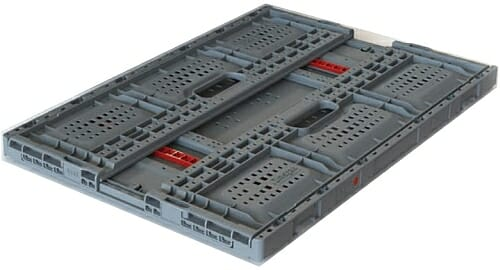 Ergonomic folding plastic crates now available