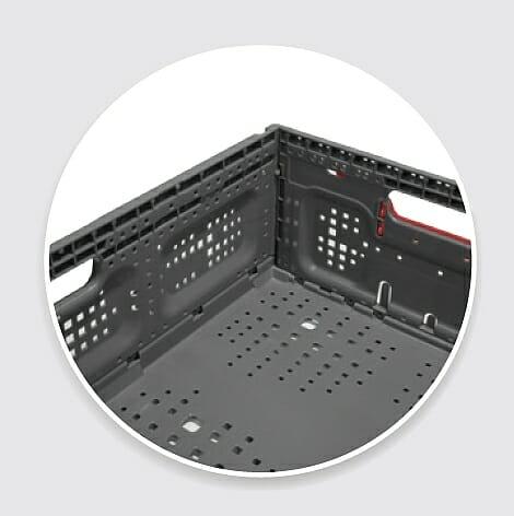 Corner of high capacity crate