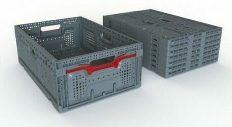 Open and folded crate