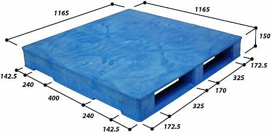 Heavy duty rackable Australian Standard pallet drawing P2GE1165H