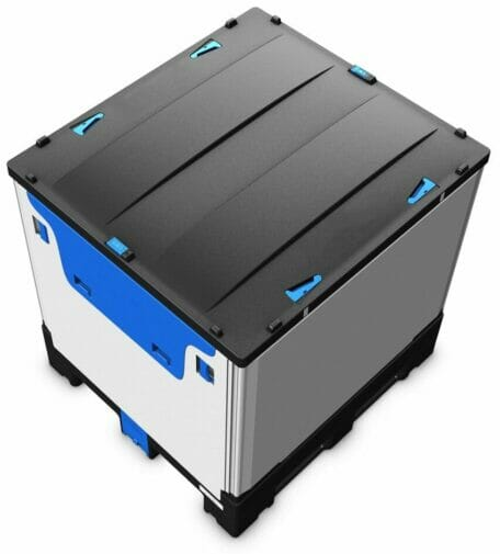 Folding Solid Bulk Container B2GH121112FS-D Top