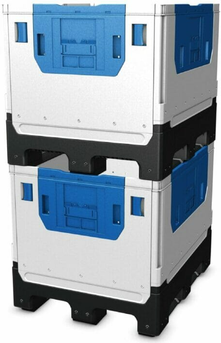 Folding Solid Bulk Container (IBC) B2GH121097FS stack