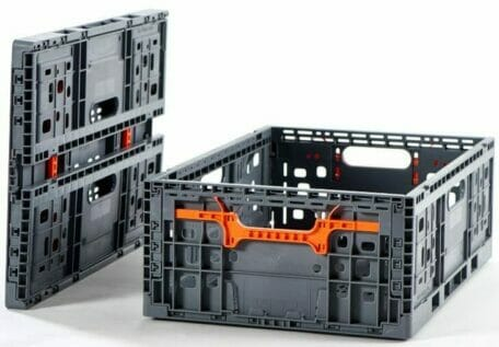 Collapsible Vented Plastic Crates