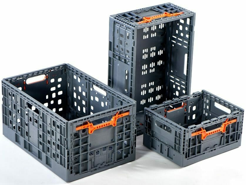 Foldable Vented Plastic Crates