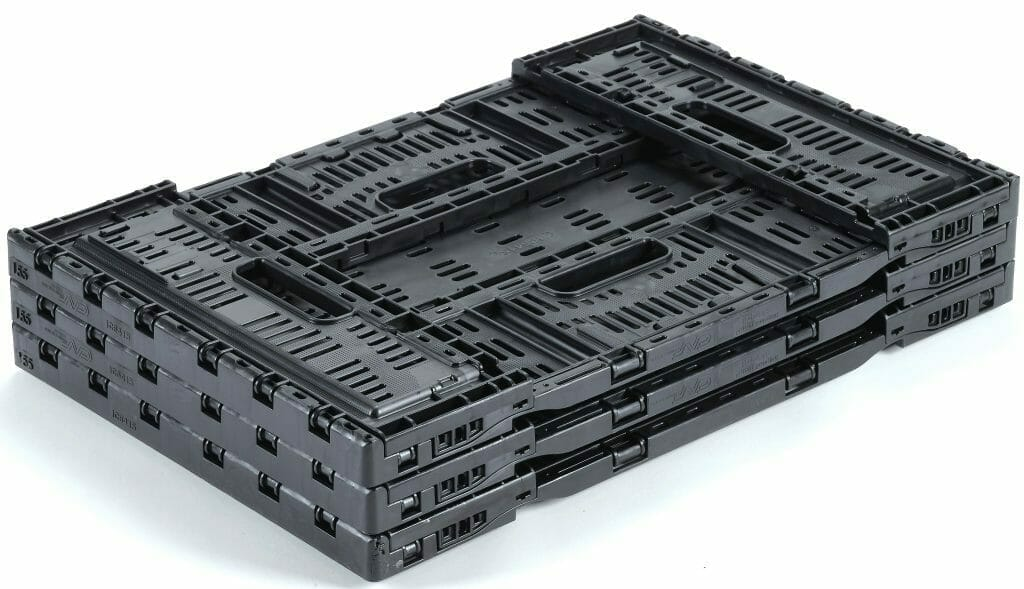 Folding Vented Plastic Crate 600x400