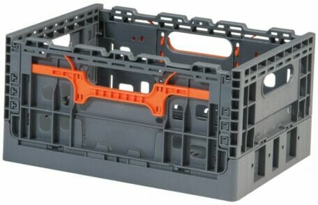Folding Vented Plastic Crate C2GP3719FV
