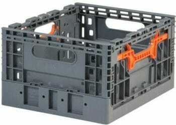 Folding Vented Plastic Crate C2GP3719FV