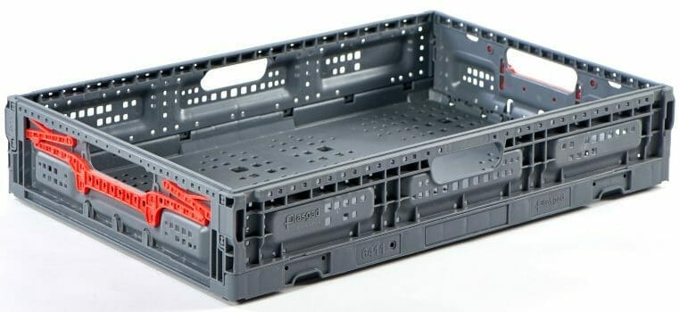 Folding Vented Plastic Crate C2GP6411FV