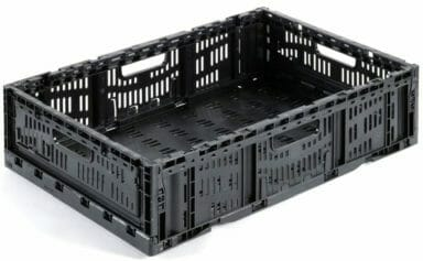 Folding Vented Plastic Crate C2GP6414F