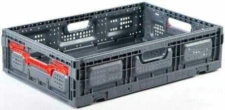 Folding Vented Plastic Crate C2GP6415FV