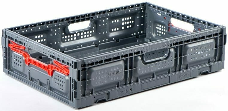 Folding Vented Plastic Crate C2GP6415FV