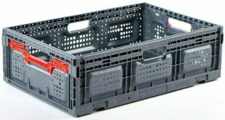 Folding Vented Plastic Crate C2GP6418FV
