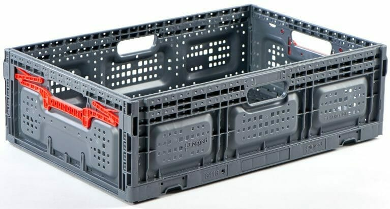 Folding Vented Plastic Crate C2GP6418FV