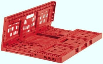 Folding Vented Plastic Crate C2GP6421FV