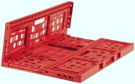 Folding Vented Plastic Crate C2GP6421FV