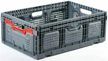 Folding Vented Plastic Crate C2GP6422FV