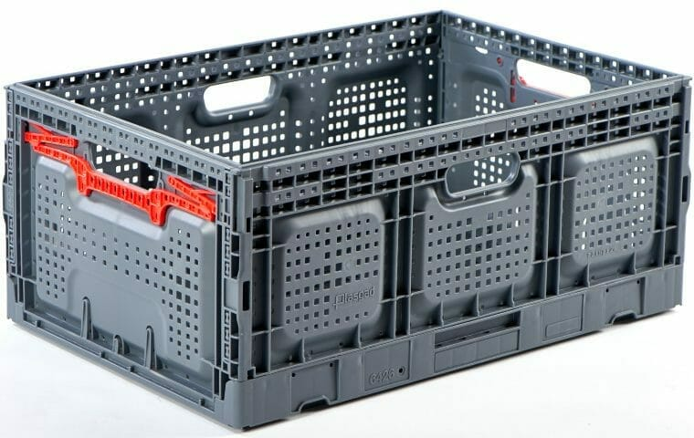 Folding Vented Plastic Crate C2GP6426FV