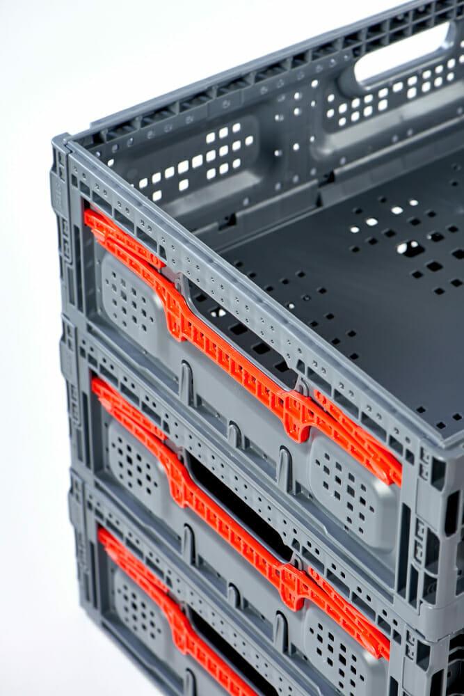 Folding Vented Plastic Crates