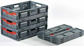 Folding Vented Plastic Crates