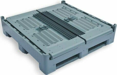 Folding Vented Pallet Box (IBC) B2GE1165FV (Folded)