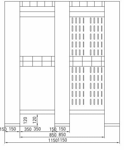 Giant Plastic Pallet Box B2G1311 Side Drawing