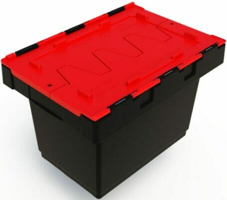 34L plastic security crate for safe transport of documents