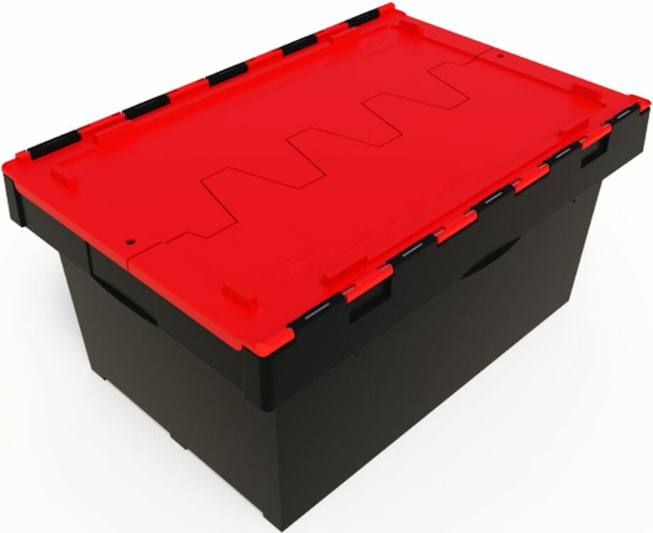 68L plastic security crate for safe transport of documents