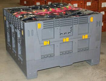 Folding solid Australian Standard plastic box