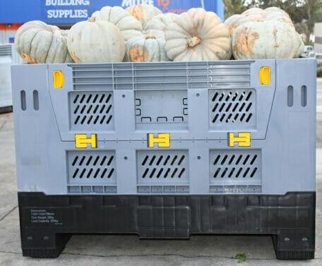 Folding vented Australian Standard plastic box with pumpkins